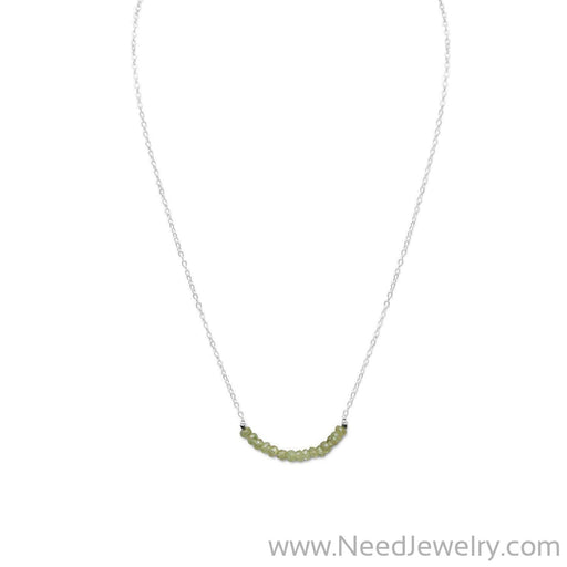 Faceted Peridot Bead Necklace - August Birthstone-Necklaces-Needjewelry.com