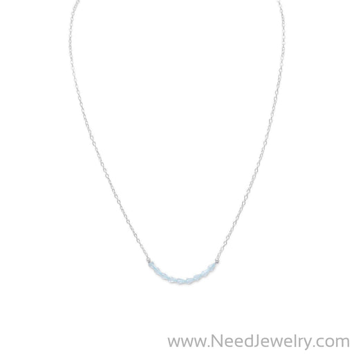 Faceted Blue Topaz Bead Necklace - December Birthstone-Necklaces-Needjewelry.com