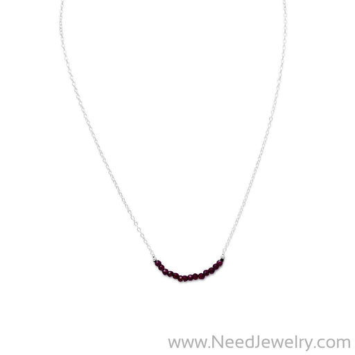 Faceted Garnet Bead Necklace - January Birthstone-Necklaces-Needjewelry.com