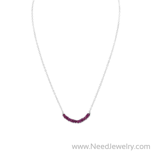 Faceted Corundum Bead Necklace - July Birthstone-Necklaces-Needjewelry.com