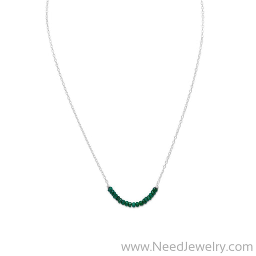 Faceted Beryl Bead Necklace - May Birthstone-Necklaces-Needjewelry.com