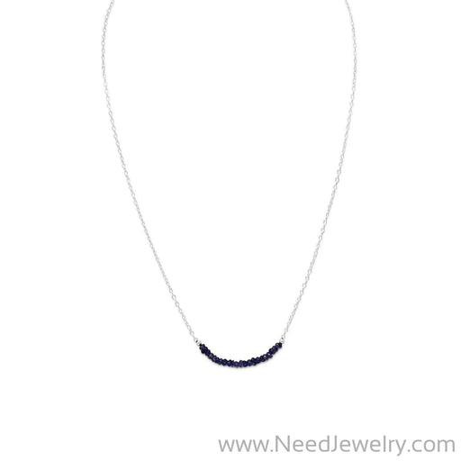 Faceted Iolite Bead Necklace - September Birthstone-Necklaces-Needjewelry.com