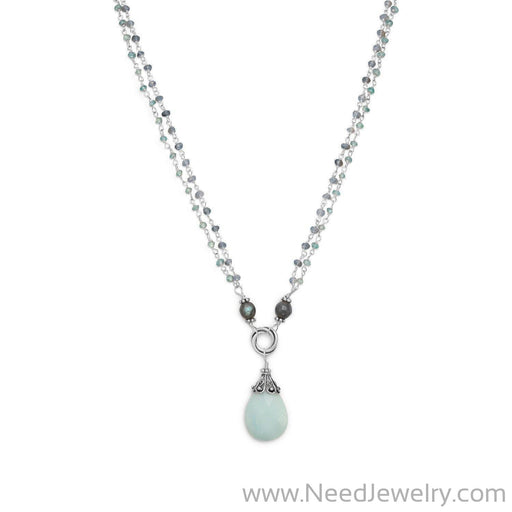 Baila Luna Mint Chocolate Drop Necklace-Necklaces-Needjewelry.com
