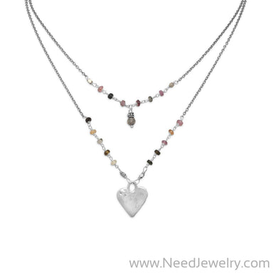 Baila Luna Joyful Heart Necklace-Necklaces-Needjewelry.com
