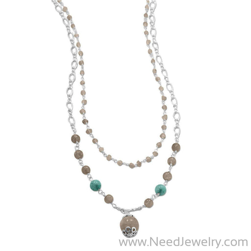 Baila Luna Labradorite Drop Necklace-Necklaces-Needjewelry.com