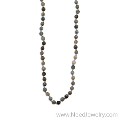 "38"" Endless Knotted Labradorite Necklace-Necklaces-Needjewelry.com"