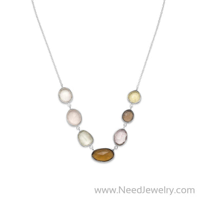 Multicolor Faceted Gemstone Necklace-Necklaces-Needjewelry.com