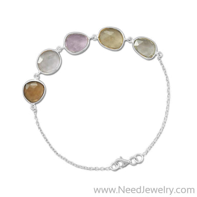 Multicolor Faceted Gemstone Bracelet-Bracelets-Needjewelry.com