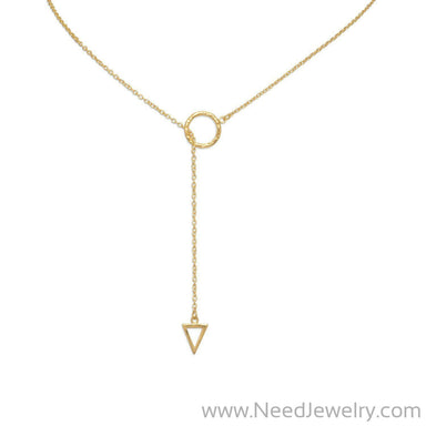 "24"" 14 Karat Gold Plated Multishape Lariat Necklace-Necklaces-Needjewelry.com"
