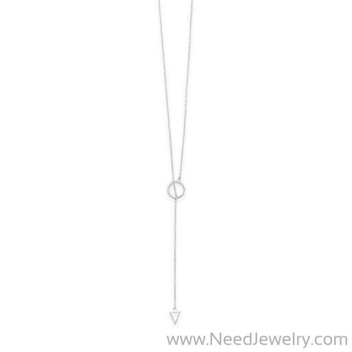 "24"" Multishape Lariat Necklace-Necklaces-Needjewelry.com"