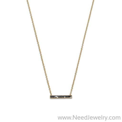 14 Karat Gold Plated Diamond Chip Necklace-Necklaces-Needjewelry.com