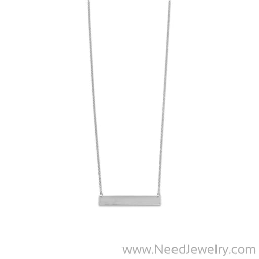 Engravable Bar Necklace-Necklaces-Needjewelry.com