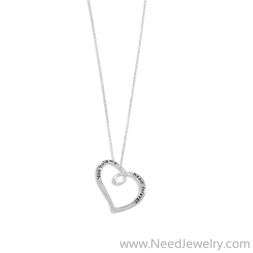 """You Hold My Heart Forever"" Necklace-Necklaces-Needjewelry.com"