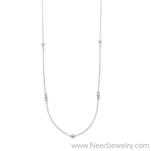 "34"" Snake Chain with Beads Necklace-Necklaces-Needjewelry.com"
