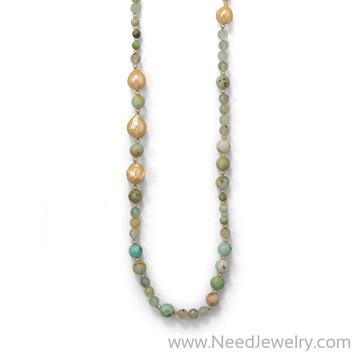 Minty Fresh! Prehnite Gold Filled Necklace-Necklaces-Needjewelry.com