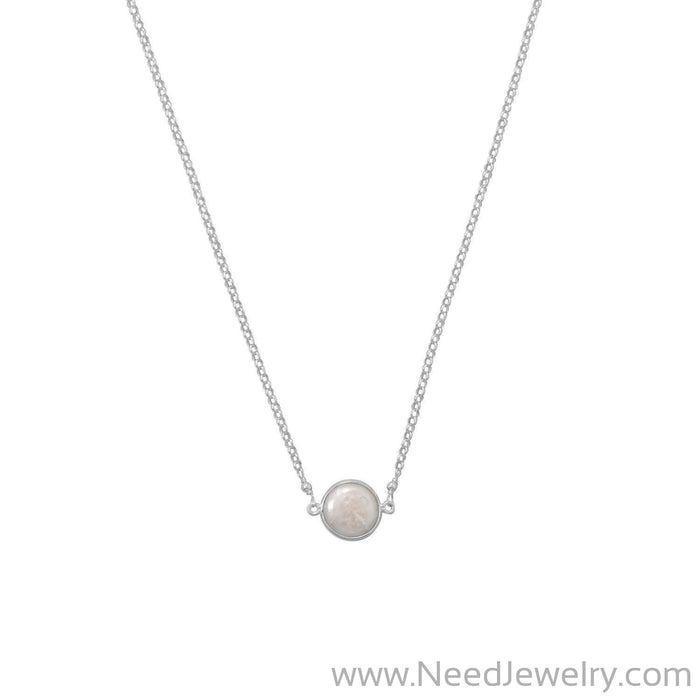 Sweet Simplicity! Cultured Freshwater Coin Pearl Necklace-Necklaces-Needjewelry.com