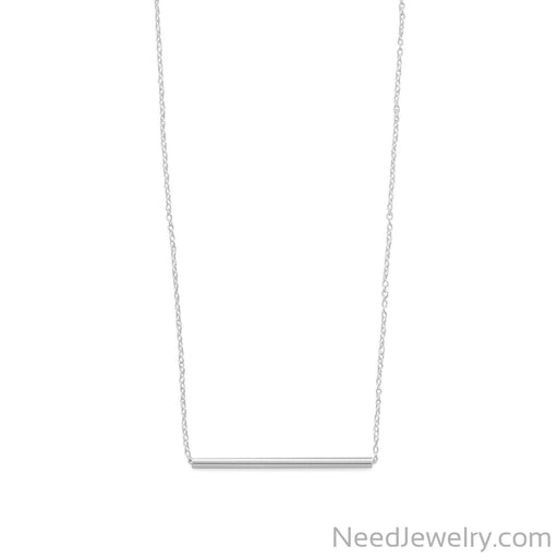 "Item # [sku} - 15.25""+1 Sliding Tube Bar Necklace on NeedJewelry.com"