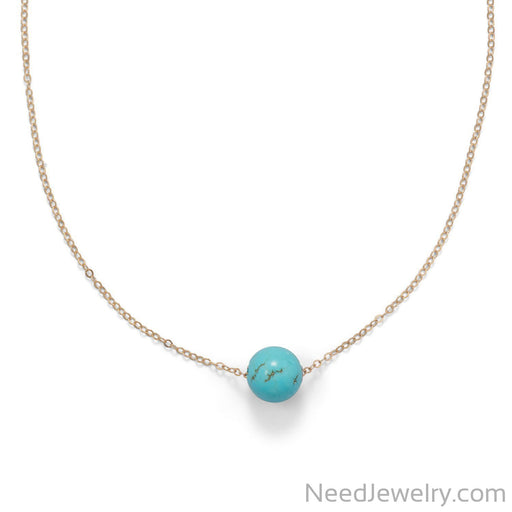 "Item # [sku} - 16"" + 2"" Gold Filled LMagnesite Necklace on NeedJewelry.com"