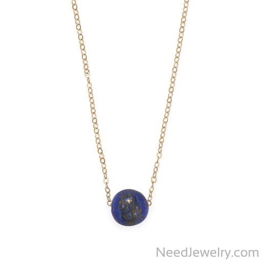 "Item # [sku} - 16"" + 2"" Gold Filled Lapis Necklace on NeedJewelry.com"