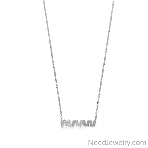 "Item # [sku} - 16""+2 CZ Staggered Bars Necklace on NeedJewelry.com"