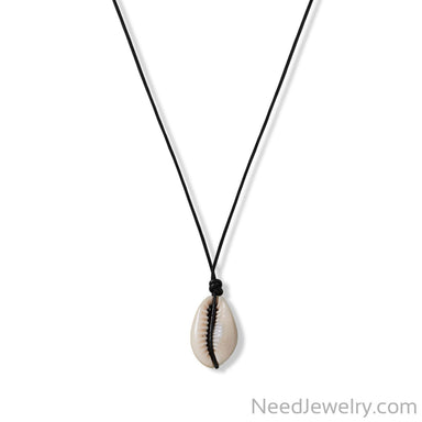 Item # [sku} - Cowrie and Leather Choker Necklace on NeedJewelry.com