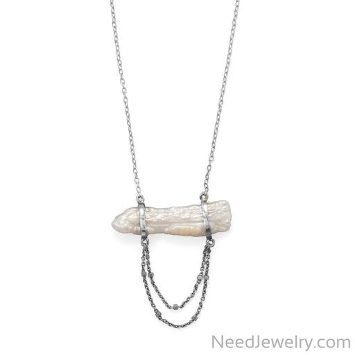 "Item # [sku} - 16""+2 Cultured Freshwater Pearl Two Chain Drop Necklace on NeedJewelry.com"