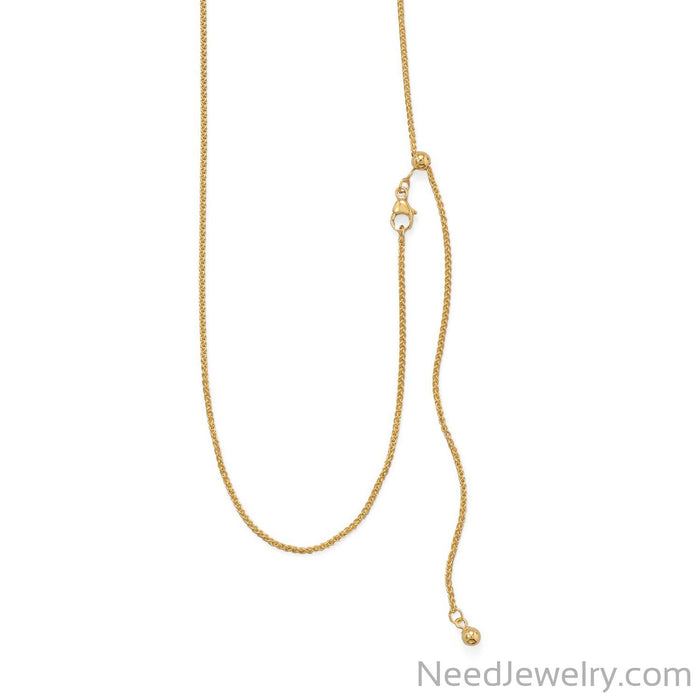 Item # [sku} - Adjustable Gold Filled French Wheat Chain on NeedJewelry.com