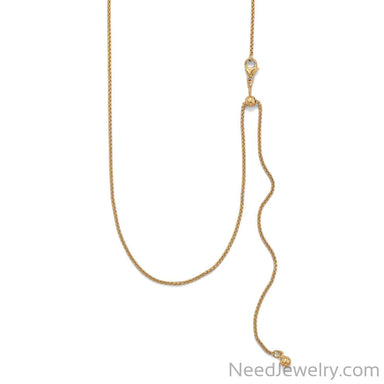 Item # [sku} - Adjustable Gold Filled Round Box Chain on NeedJewelry.com