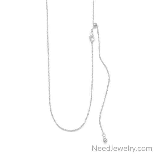 Item # [sku} - Adjustable French Wheat Chain on NeedJewelry.com