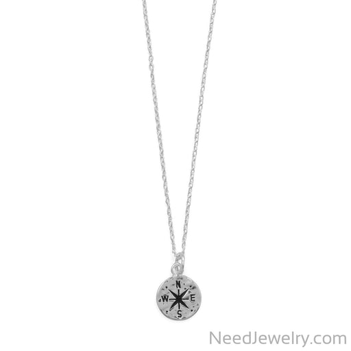 "Item # [sku} - Keep It Moving! 17""+2 Hammered Compass Necklace on NeedJewelry.com"