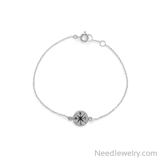 "Item # [sku} - Keep It Moving! 7""+.5 Hammered Compass Bracelet on NeedJewelry.com"