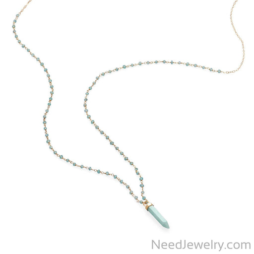 "Item # [sku} - 40 "" Apatite and Amazonite Necklace on NeedJewelry.com"