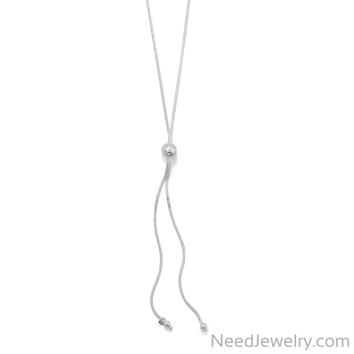 Item # [sku} - Adjustable D/C Snake Lariat Necklace on NeedJewelry.com