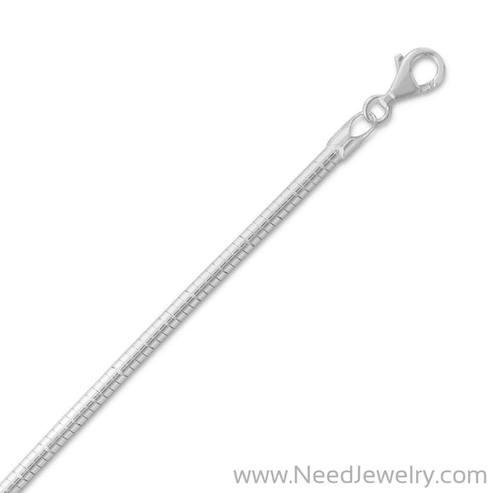 3mm Round Omega Necklace-Chains-Needjewelry.com
