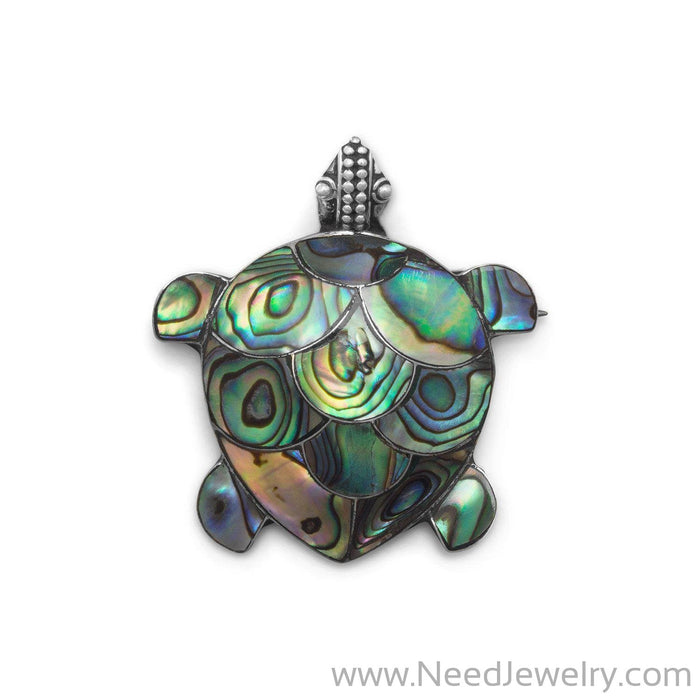 Paua Shell Turtle Pin/Pendant-Pins-Needjewelry.com