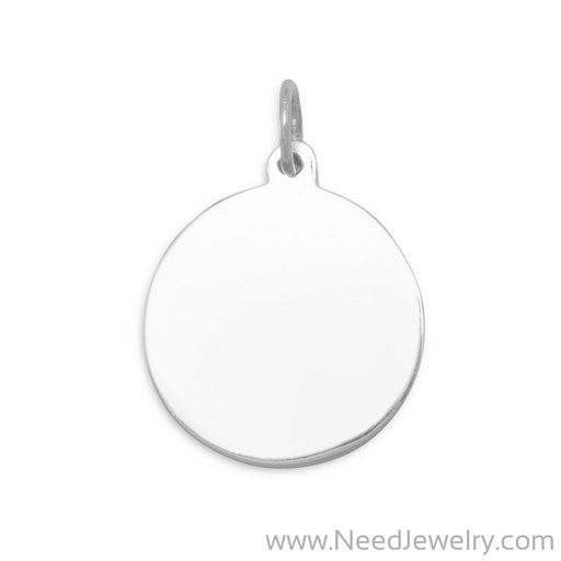 22mm Round Tag Charm-Charms-Needjewelry.com