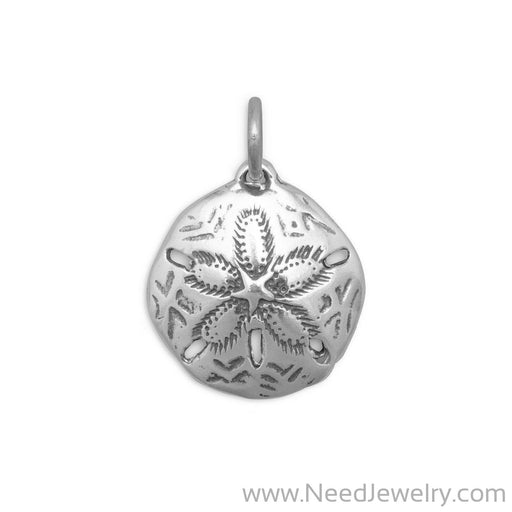 Oxidized Sand Dollar Charm-Charms-Needjewelry.com