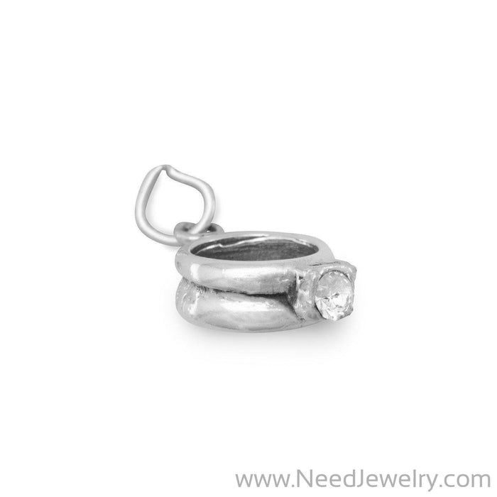 CZ Ring Charm-Charms-Needjewelry.com