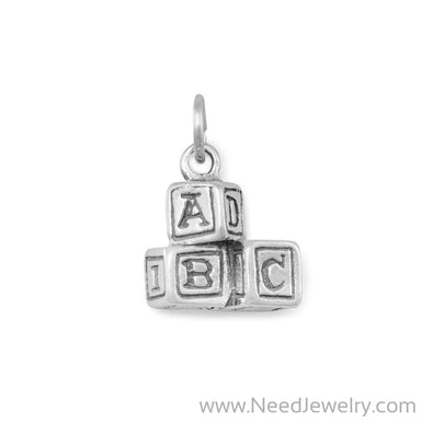 ABC Blocks Charm-Charms-Needjewelry.com