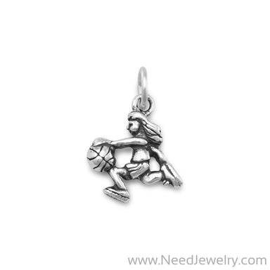 Girl Basketball Player Charm-Charms-Needjewelry.com