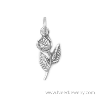 Rose with Stem Charm-Charms-Needjewelry.com