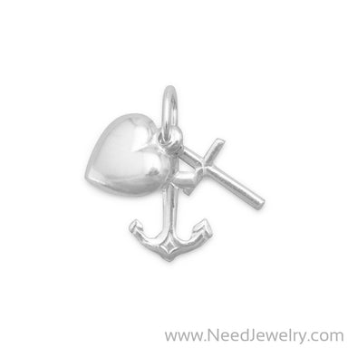 Faith/Hope/Charity Charm-Charms-Needjewelry.com
