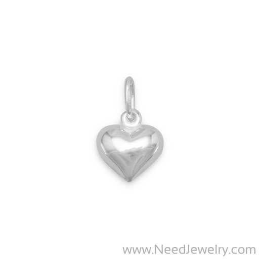 12mm Puffed Heart Charm-Charms-Needjewelry.com