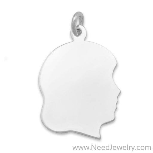 Girl Silhouette Charm-Charms-Needjewelry.com
