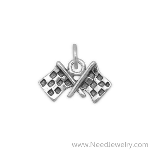 Checkered Flags Charm-Charms-Needjewelry.com