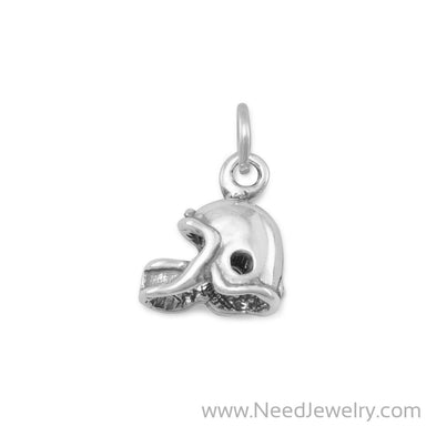 Oxidized Football Helmet Charm-Charms-Needjewelry.com