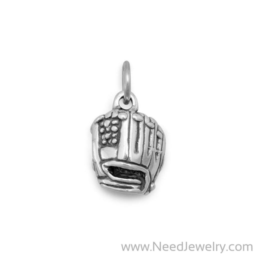 Oxidized Baseball Mitt Charm-Charms-Needjewelry.com