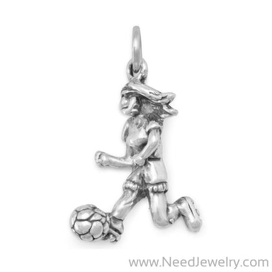 Girl Soccer Player Charm-Charms-Needjewelry.com