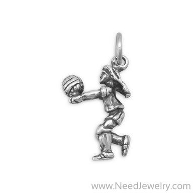 Girl Volleyball Player Charm-Charms-Needjewelry.com