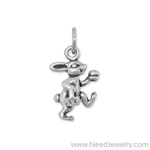Bunny with Basket Charm-Charms-Needjewelry.com